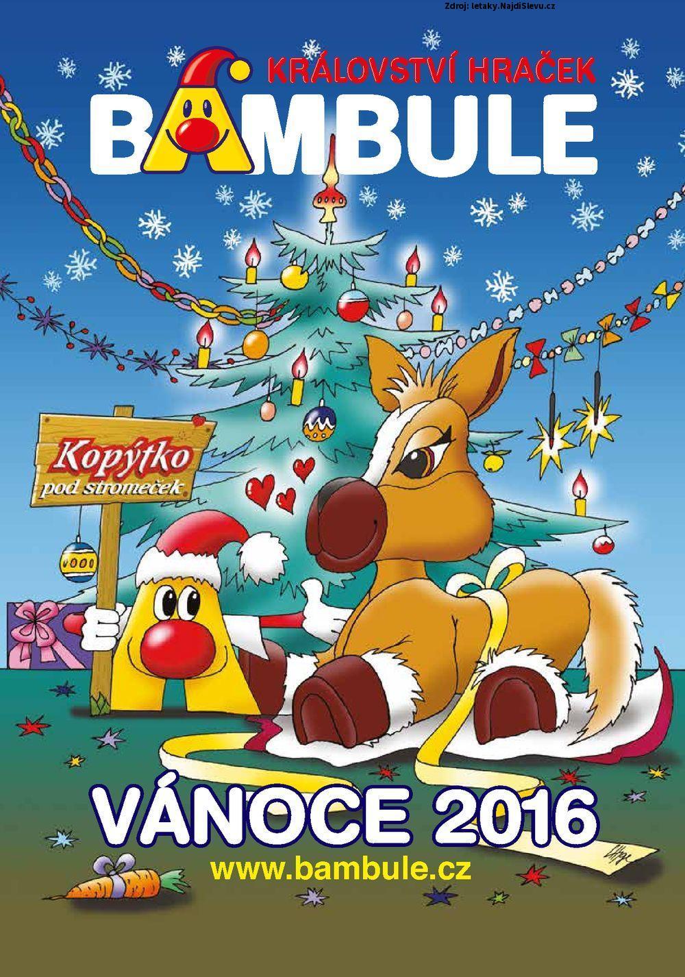 Strana 1 - leták Bambule (1. 10. - 31. 12. 2016)