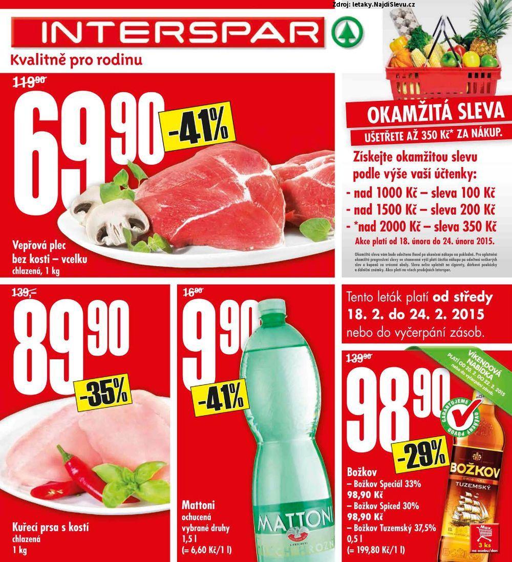 Strana 1 - leták INTERSPAR (18. 2. - 24. 2. 2015)