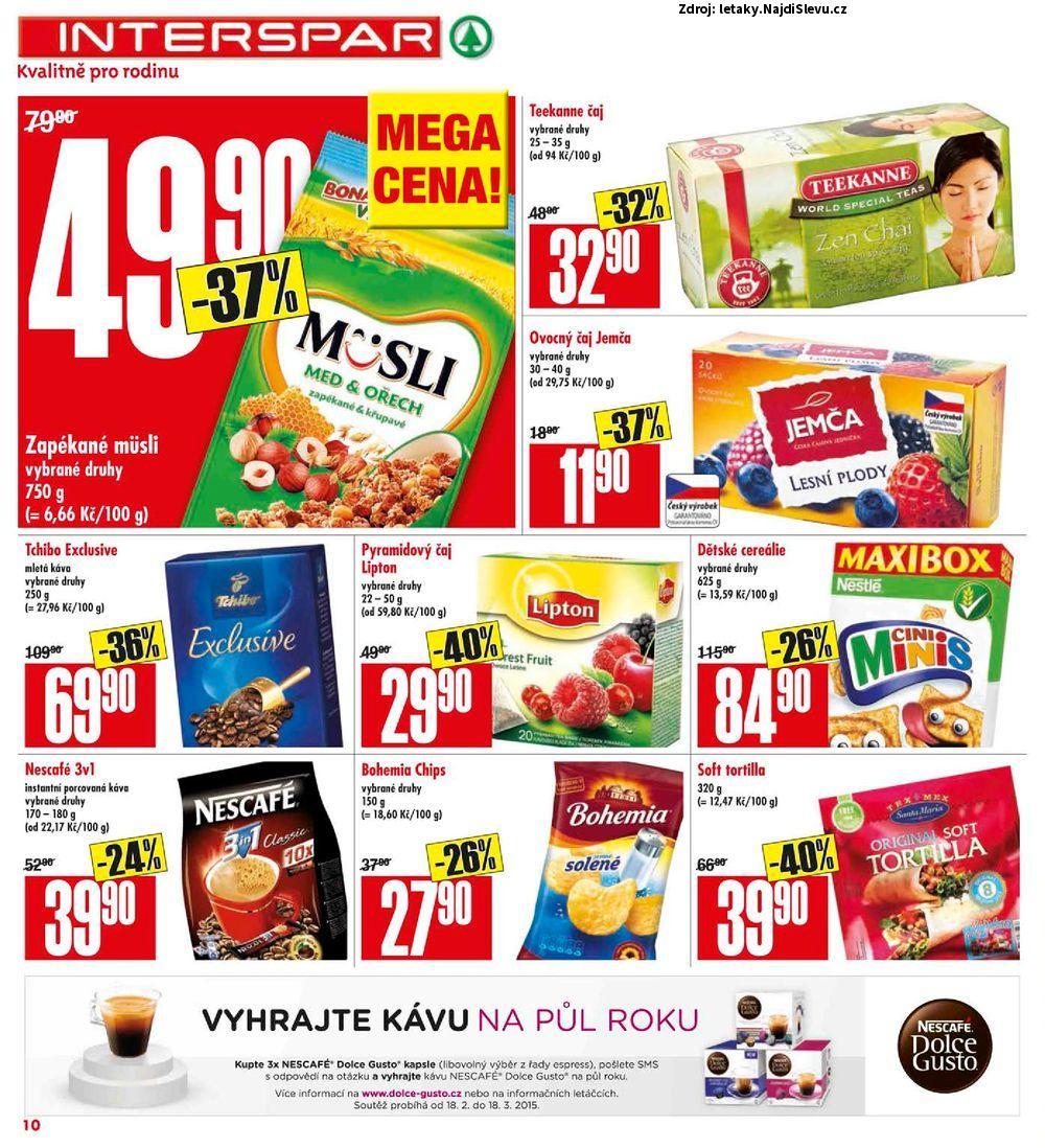 Strana 10 - leták INTERSPAR (18. 2. - 24. 2. 2015)