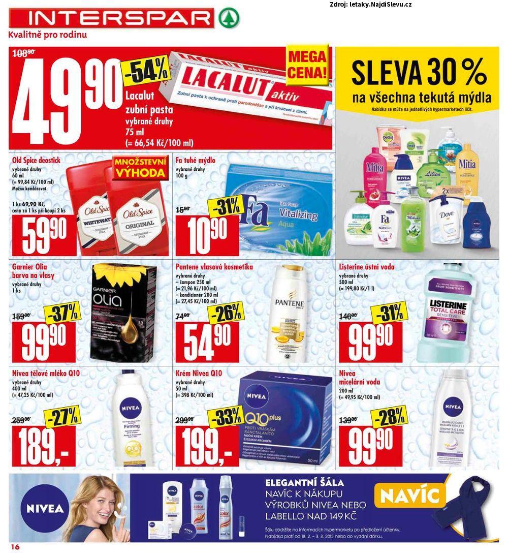 Strana 16 - leták INTERSPAR (18. 2. - 24. 2. 2015)