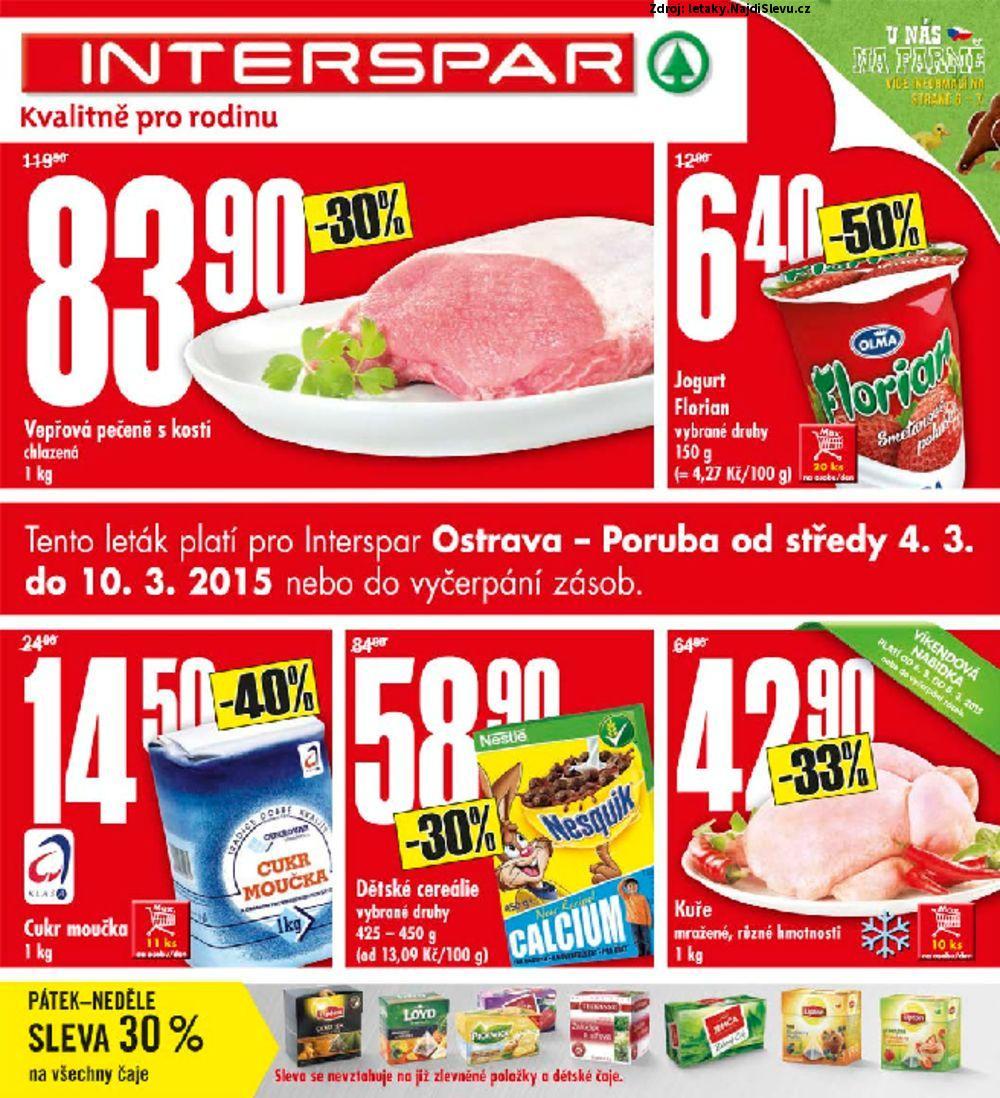 Strana 1 - leták INTERSPAR (4. 3. - 10. 3. 2015)