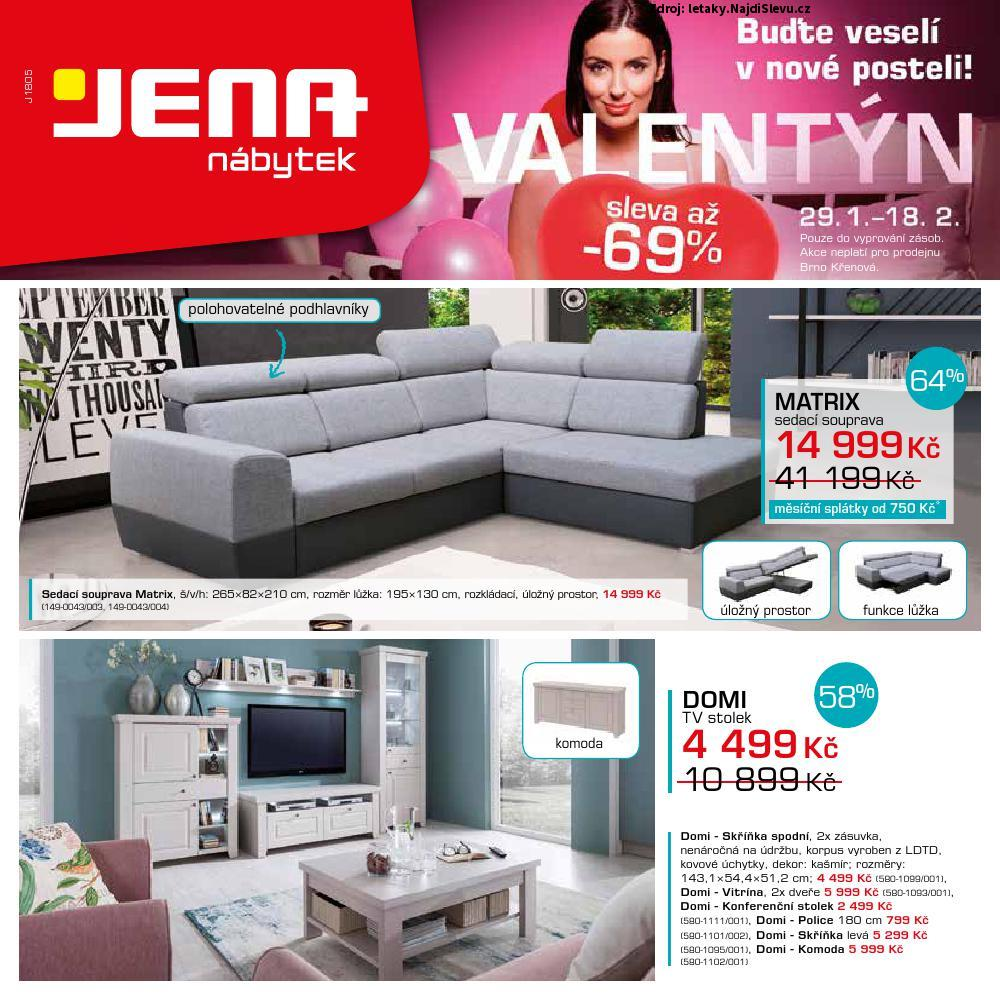 Strana 1 - leták Jena nábytek (29. 1. - 18. 2. 2018)