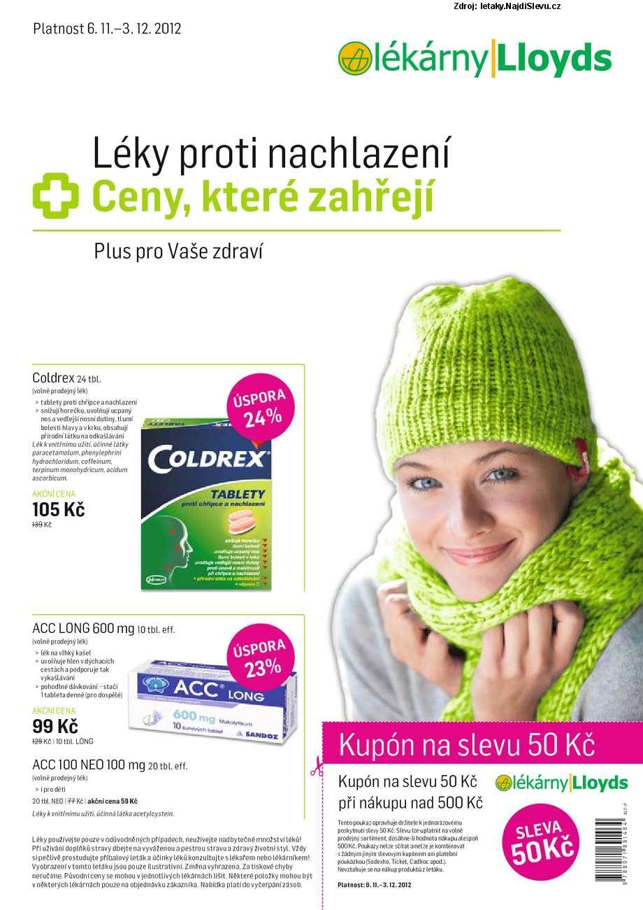 Strana 1 - leták Lloyds (6. 11. - 3. 12. 2012)