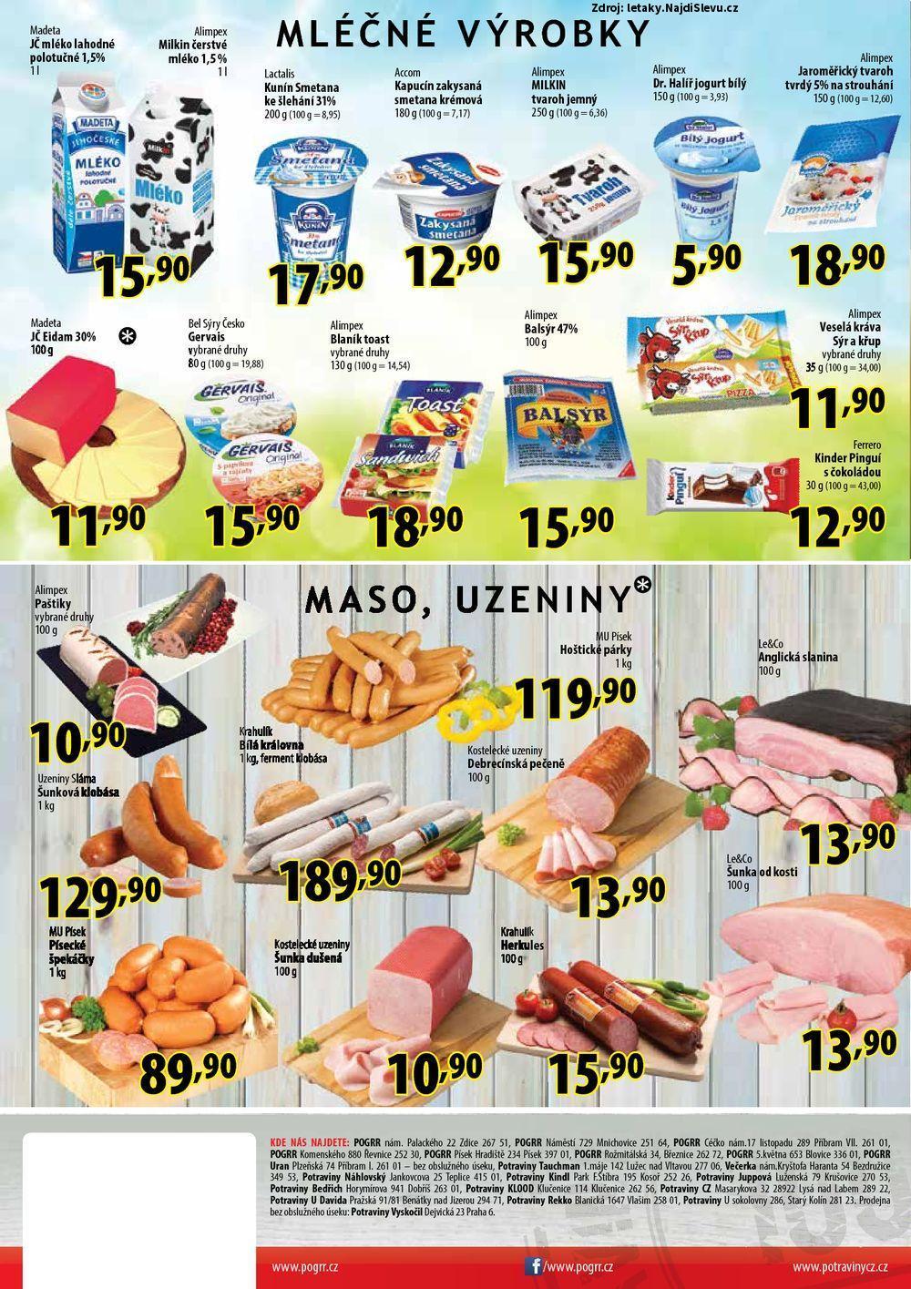 Strana 1 - leták Potraviny CZ (10. 5. - 22. 5. 2017)