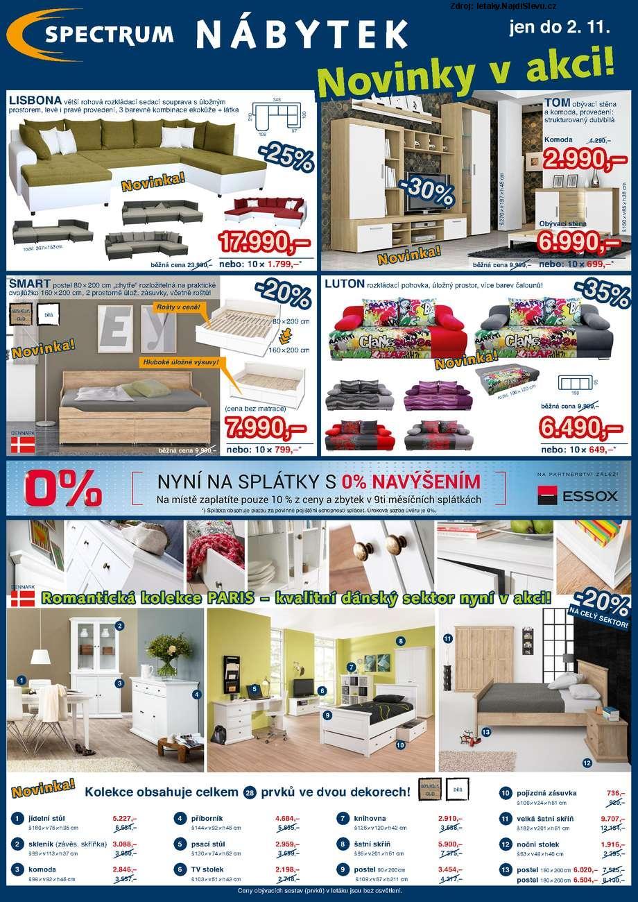Strana 1 - leták Spectrum nábytek (6. 10. - 2. 11. 2014)