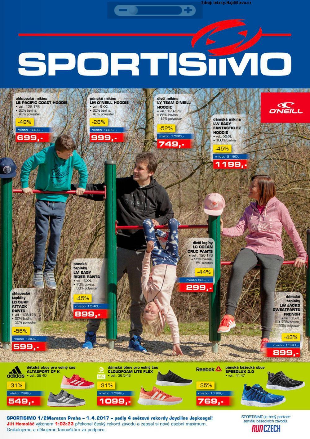 Strana 1 - leták Sportisimo (13. 4. - 26. 4. 2017)