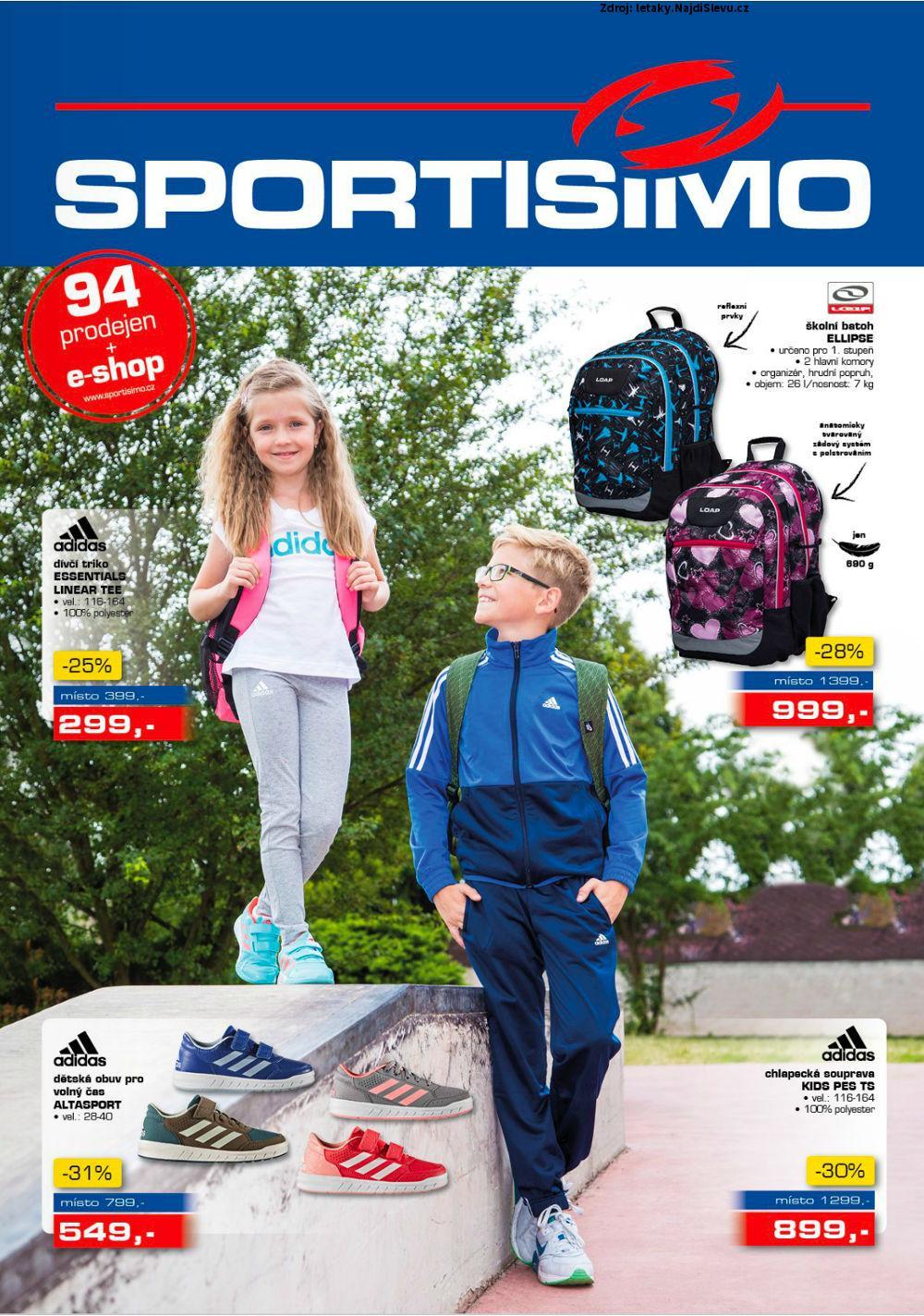 Strana 1 - leták Sportisimo (17. 8. - 30. 8. 2017)