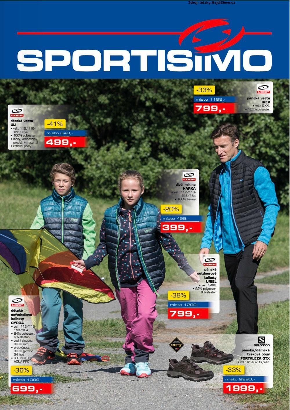 Strana 1 - leták Sportisimo (21. 9. - 4. 10. 2017)