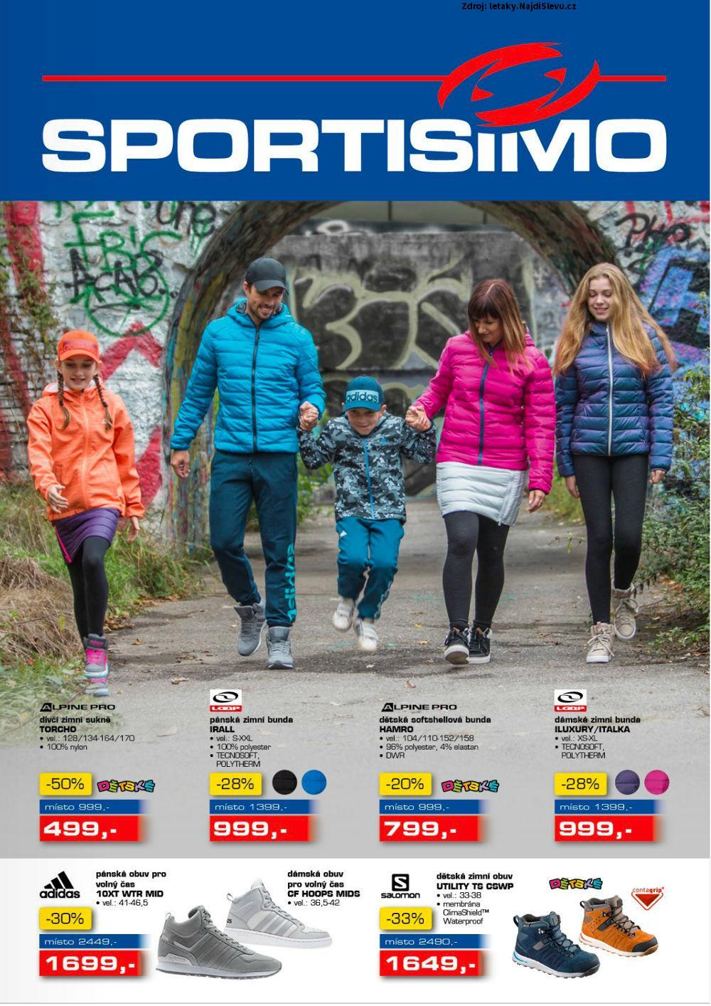 Strana 1 - leták Sportisimo (12. 10. - 25. 10. 2017)
