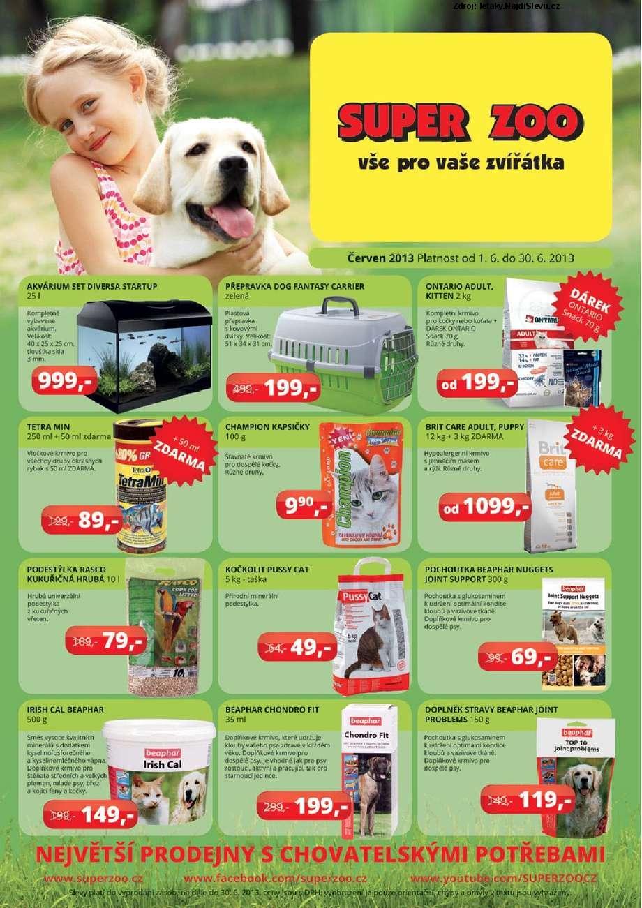 Strana 1 - leták Super Zoo (1. 6. - 30. 6. 2013)