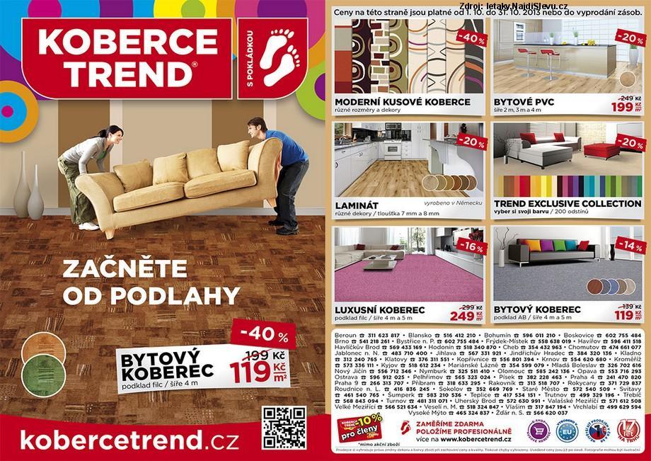 Strana 1 - leták Koberce Trend (1. 10. - 31. 10. 2013)