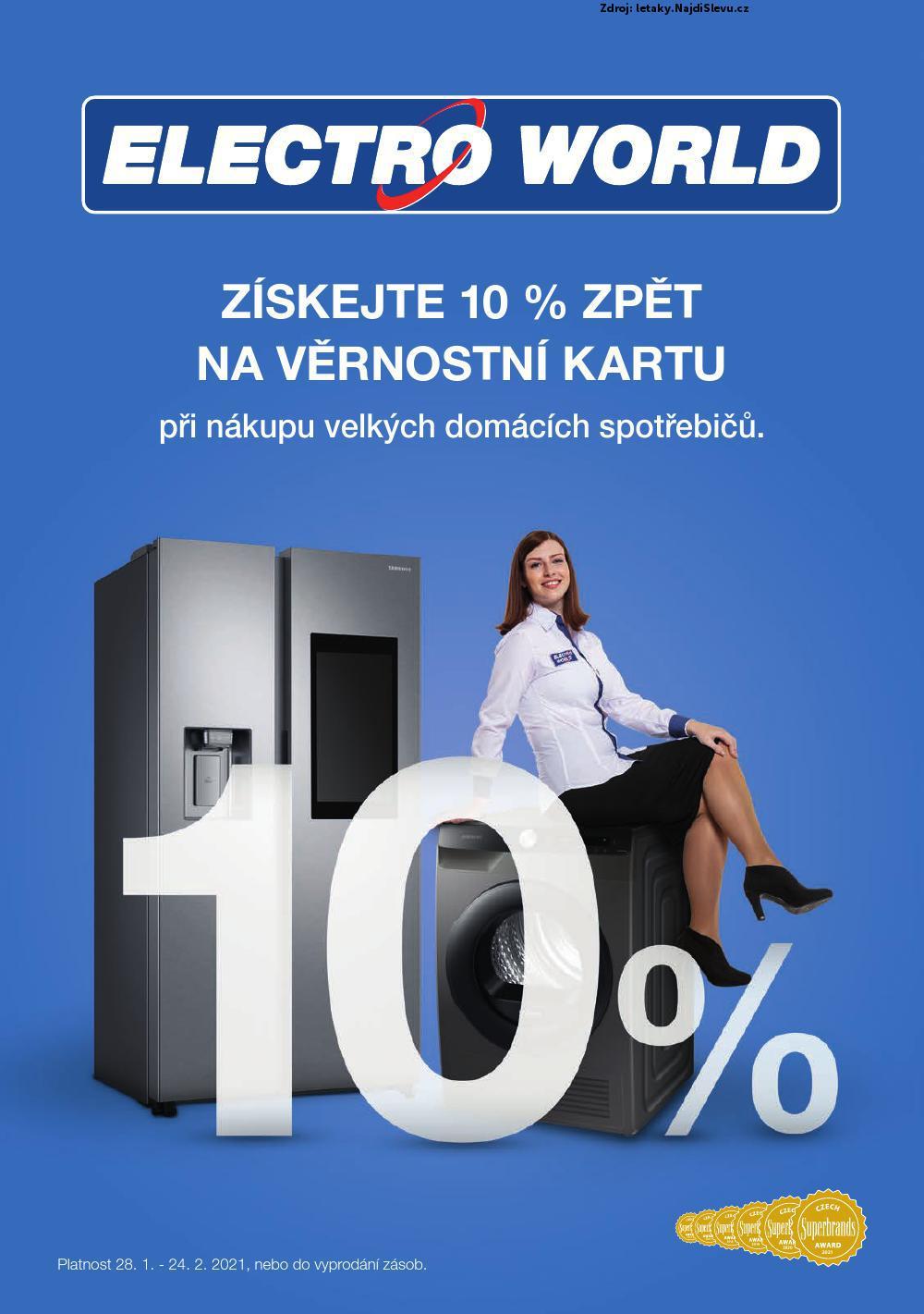 Strana 1 - leták Electro World (28. 1. - 24. 2. 2021)