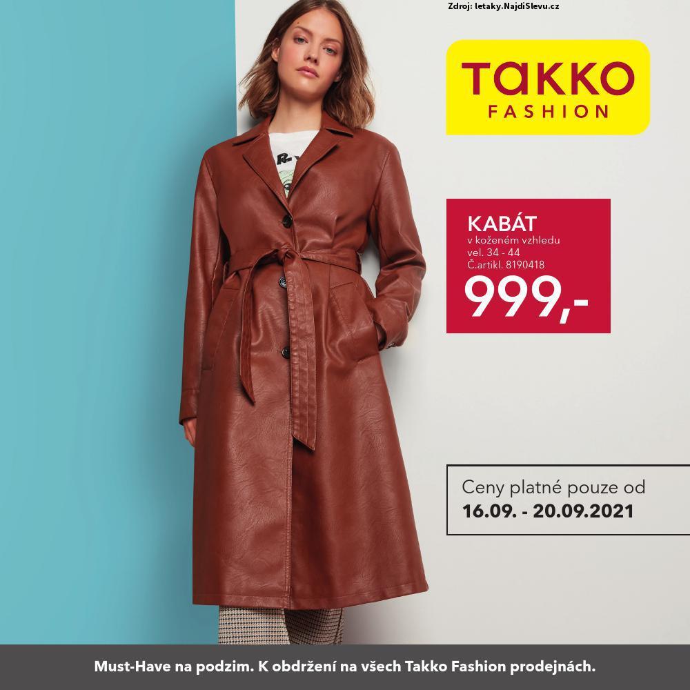 Strana 1 - leták Takko (16. 9. - 20. 9. 2021)